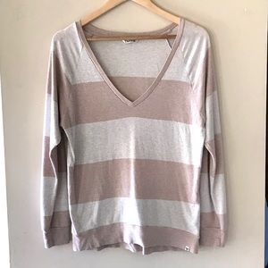 TNA cream and tan striped top - Size XS